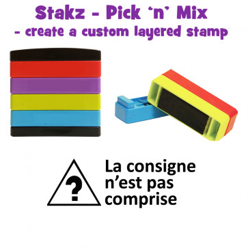 Teacher Stamps   La consigne n'est pas comprise Pick'n'Mix Stakz Layered French Multistamp.