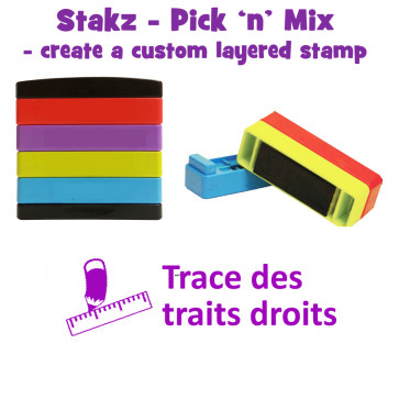 Teacher Stamps | Trace des traits droits Pick'n'Mix Stakz Layered French Multistamp.