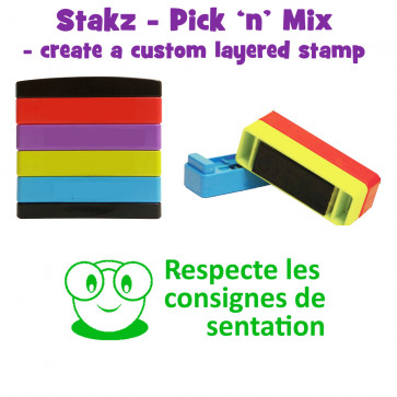 Teacher Stamps | Respecte les consigne des prèsentation Pick'n'Mix Stakz Layered French Multistamp