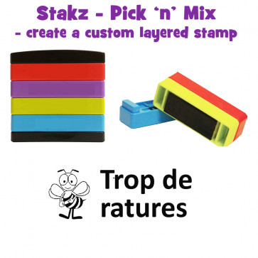 Teacher Stamps | Trop de ratures Pick'n'Mix Stakz Layered French Multistamp