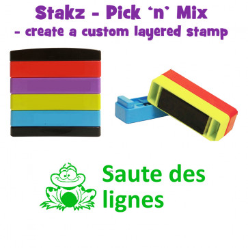 Teacher Stamps | Saute des lignes Pick'n'Mix Stakz Layered French Multistamp