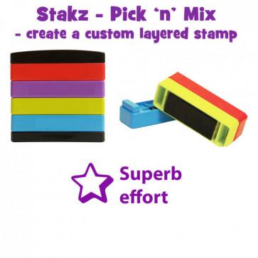 Teacher Stamps | Superb effort Pick'n'Mix Stakz Layer Multi Stamp.