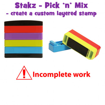 Teacher Stamps | Incomplete work Pick'n'Mix Stakz Layered Multistamp