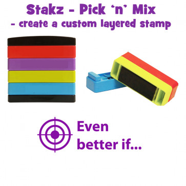 School Stamps |  Even better if... Stakz Layer Teacher Stamps