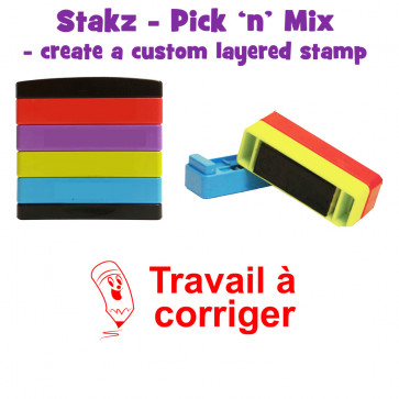 Teacher Stamps | Travail à corriger Pick'n'Mix Stakz Layered French Multistamp