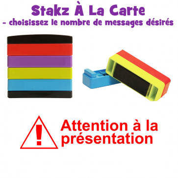 Teacher Stamps | Attention à la présentation Pick'n'Mix Stakz Layered French Multistamp