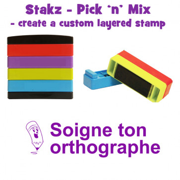 Teacher Stamps | Courage Continue Pick'n'Mix Stakz Layered French Multistamp