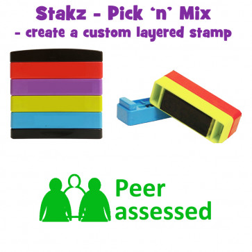 Teacher Stamps | Peer assesed Pick'n'Mix Stakz Layered Multistamp