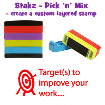 Teacher Stamps | Target(s) to improve your work.... Pick'n'Mix Stakz Layered Multistamp.
