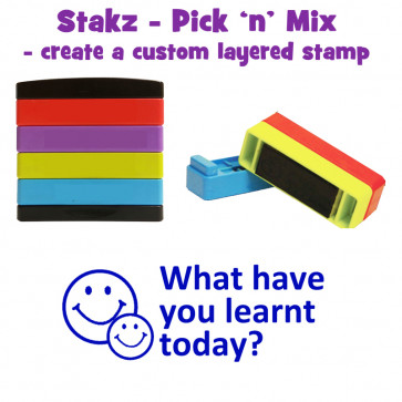 Teacher Stamps  What have you learnt today? Pick'n'Mix Stakz Layered Multistamp