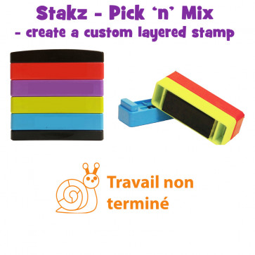 Teacher Stamps | Travail non terminé Pick'n'Mix Stakz Layered Multistamp