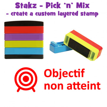 Teacher Stamps | Objecif non atteint Pick'n'Mix Stakz Layered Multistamp