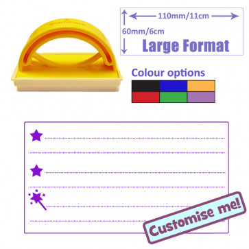 Teacher Stamp | 2 Stars and a Wish Self-inking Assessment and Feedback Stamp