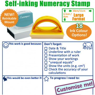 School Stamps | Maths marking checklist and feedback stamper