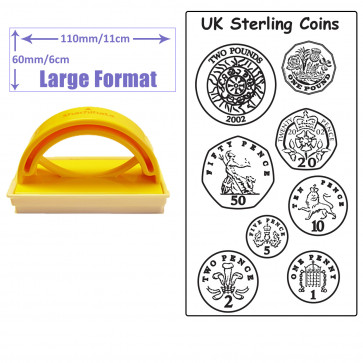 Teacher Stamp | Teach Money & Maths with this UK Sterling Coin Stamp