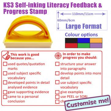 Large Teacher Stamper | KS3 Feedback, Improvements Literacy Checklist Teacher Stamp
