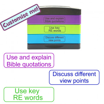 School Stamp | ..Bible quotations, key RE words, ..different view points RE Stamp