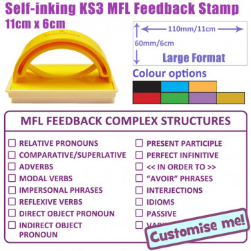 Large MFL Teacher Stamp 16 point complex structures marking checklist.