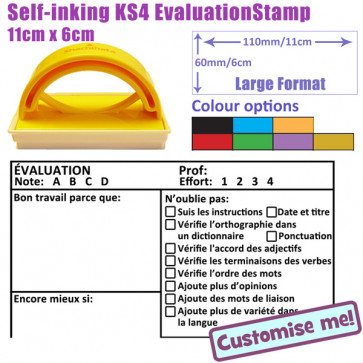 School Stamp | MFL French ÉVALUATION, Note, Effort,  (Bon travail, Encore mieux, ) Teacher Stamp - Large
