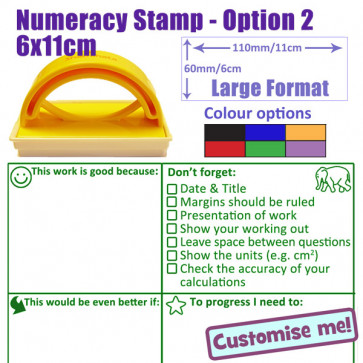 School Stamps | Numeracy KS2/3 marking checklist and feedback stamper