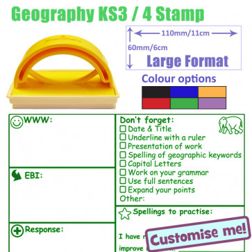 School Stamps | Geography KS3/4 marking checklist and feedback stamper