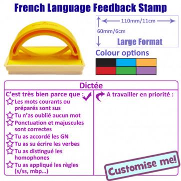 Teacher Stamp | French Language Literacy Feedback Stamp