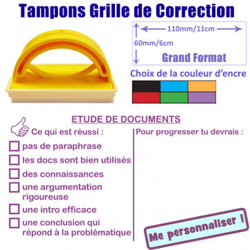 Tampon encreur | Etude de documents Grand Format