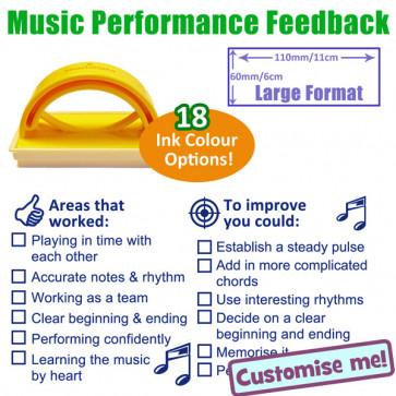 Teacher Stamp | KS3 / 4 Music Performance Feedback Stamp