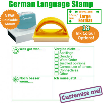 MFL Stamps   German Language Large Stamp