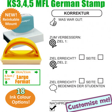 MFL Stamps | German Language Large Stamp - Teacher Designed