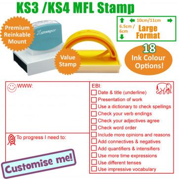 Teacher Stamps | MFL WWW, EBI Marking Stamp KS3 / 4 - Large Teacher Stamp