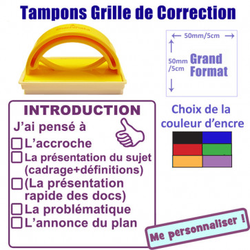 Grand Tampon Enseignant | Grille de Correction - Introduction. 5cm