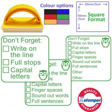 Teacher Stamp | 3 Stage set, Writing Self / Peer Assessment