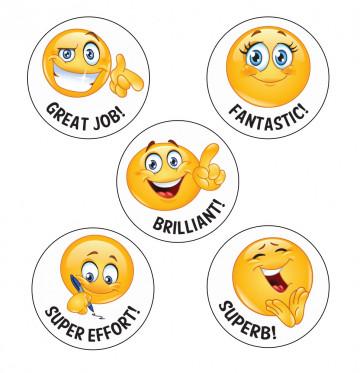 School Stickers   Fantastic! Emoji Reward Stickers