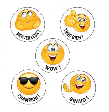 School Stickers   Champion ! French Language Emoji Stickers