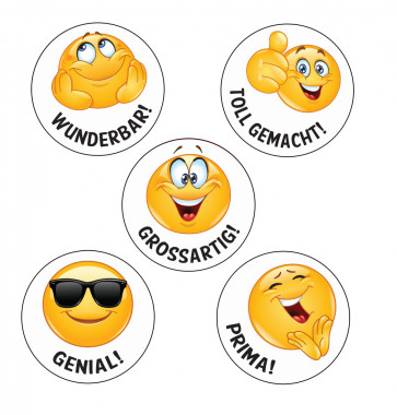 School Stickers | Genial! German Language Emoji Stickers