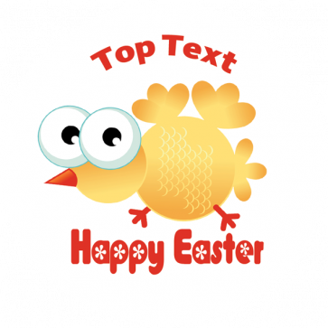 Personalised School Stickers | Happy Easter Crazy Chick! Design Custom Standard and Scented Stickers