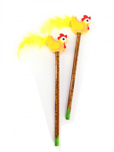 Party Bags | Cute Chirpy Chicken Topper Pencils-Ideal for Easter
