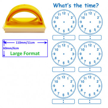 Teacher Stamp | Digital and Analogue Clock Stamp.