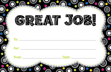 School Certificates | Great Job! Praise Message Awards