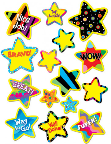Children's Reward Stickers | Bright Stars, Poppin' Patterns Designs