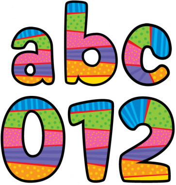 Stick On Letters | Playful Patterns Lower Case School Stickers