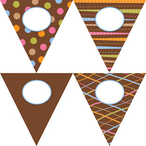 Classroom Display Resources | Double sided jumbo Dots on Chocolate Pennants