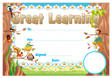 School Certificates | Great Learning School Certificate. School Logo Custom Option