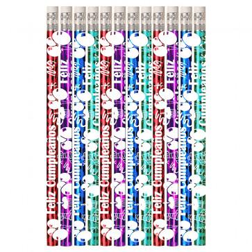 Pencils for Kids | 12 x Feliz Cumpleaños Spanish Pencils