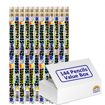 Bulk Kids Pencils | 144 x Star Student Pizazz Pencils.