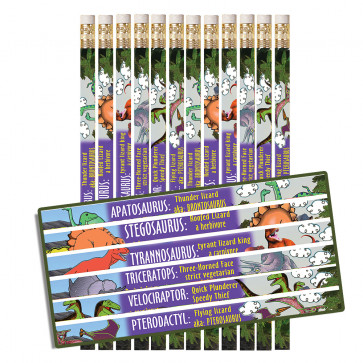 Dinosaur Stationery | 12 x Dinosaurs Fabulous Facts Pencils