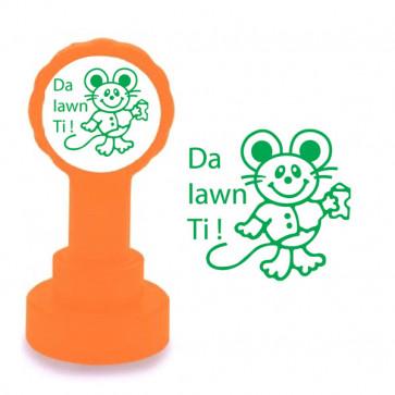 Teacher Stamp | Welsh Praise Messages - Da lawn Ti ! (Very Well Done)
