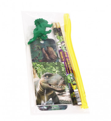 Class Gifts / Party Bag Fillers | Dinosaur Stationery Set in Pencil Case