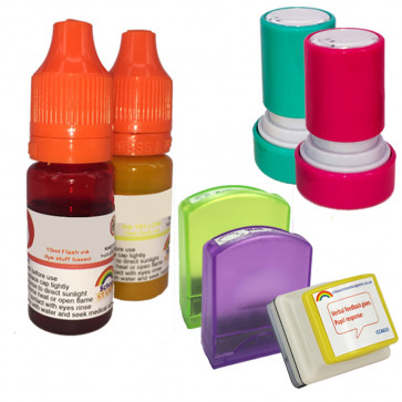 Teacher and School Stamps   Flash stamp refill ink
